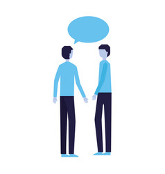 two man talking speech bubble vector image