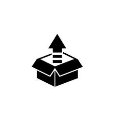 Unpacking box flat icon vector