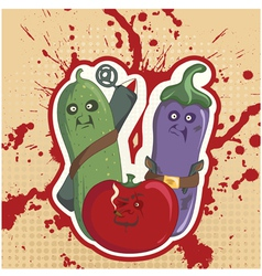 vegetable rebels vector image