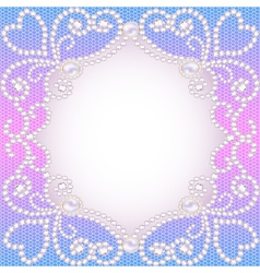 wedding background with frame ornament vector image