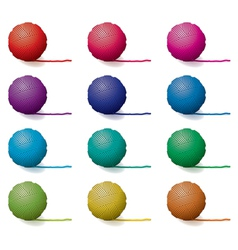 Yarn balls vector