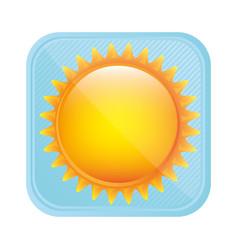 Yellow light sun icon vector