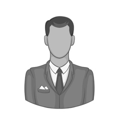 Businessman icon black monochrome style vector image vector image