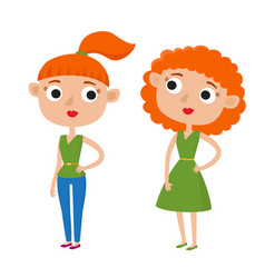 color cute cartoon woman in vector image vector image