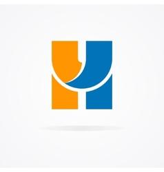 Letter H logo for design template elements vector image vector image