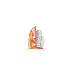 Isolated abstract city skyscraper logourban real vector