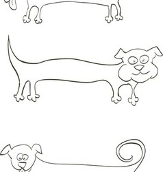 long dog for inscriptions on the body vector image vector image