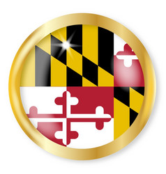 maryland flag button vector image