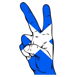 Peace Sign of the Scottish flag vector image vector image