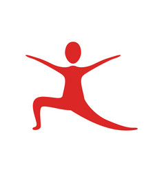 people fitness stretching icon vector image vector image