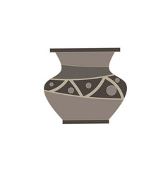 vase flat icon isolated for flower front view vector image