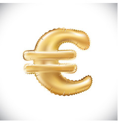 balloon euro currency symbol realistic 3d vector image
