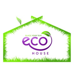 eco green grass house isolated vector image