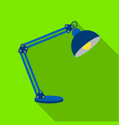 balanced-arm lamp icon in flat style isolated on vector image