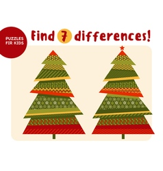 Big Christmas tree in traditional color style Kid vector image