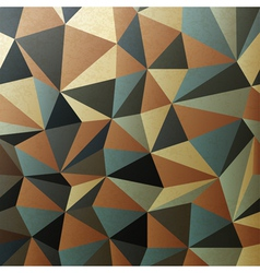 brown gamut triangle patch surface vector image vector image
