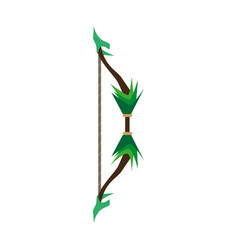 game bow arrow target archery weapon icon vector image