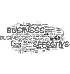What makes an on line business effective text vector
