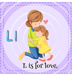 A letter L for love vector