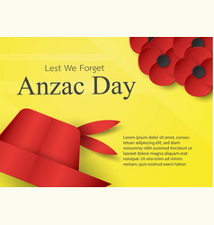 Abstract background with hat and flower for anzac vector
