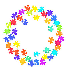 Abstract conundrum jigsaw puzzle rainbow colors vector