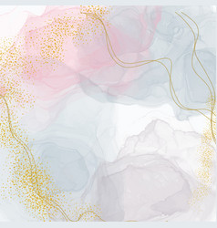 Abstract hand painted decorative watercolour vector