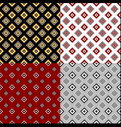 abstract seamless pattern set - square design vector image