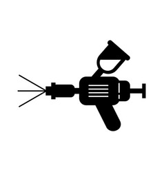 airbrush car spray paint equipment symbol vector image