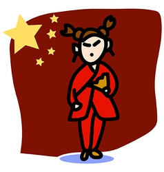 Asia people Chinese Woman vector image