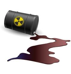 Barrel with toxic liquid vector image