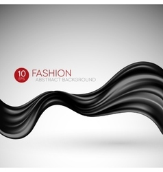 Black flying silk fabric Fashion background vector image