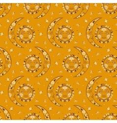 Bohemian celestial pattern vector