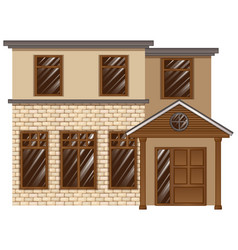 Building made with bricks vector