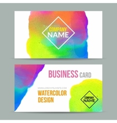 business cards template with watercolor vector image