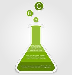 Business Infographics scientific style can vector image
