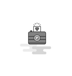 camera web icon flat line filled gray icon vector image