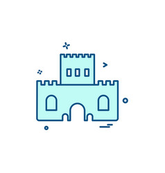 castle icon design vector image