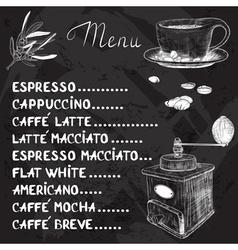 Chalkboard Coffee Menu Design vector