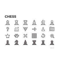 Chess icons for mobile application chessmen vector