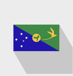Christmas island flag long shadow design vector