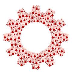 Cog composition of fireworks detonator icons vector
