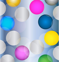colorful bokeh circles vector image