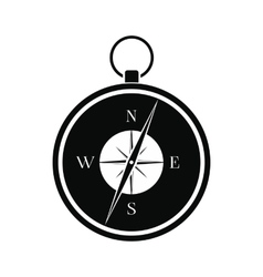 Compass black simple icon vector