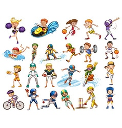Different kind of sports vector image
