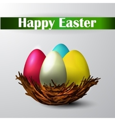 Easter nest isolated vector image