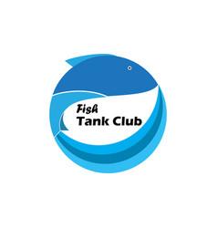 fish tank club logo vector image