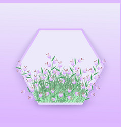 floral seasonal with little vector image