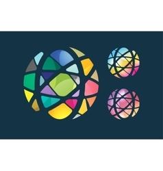 globe abstract logo template Circle round vector image