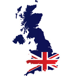 great britain map vector image