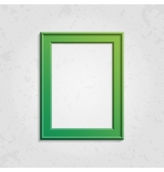 Green modern picture frame vector
